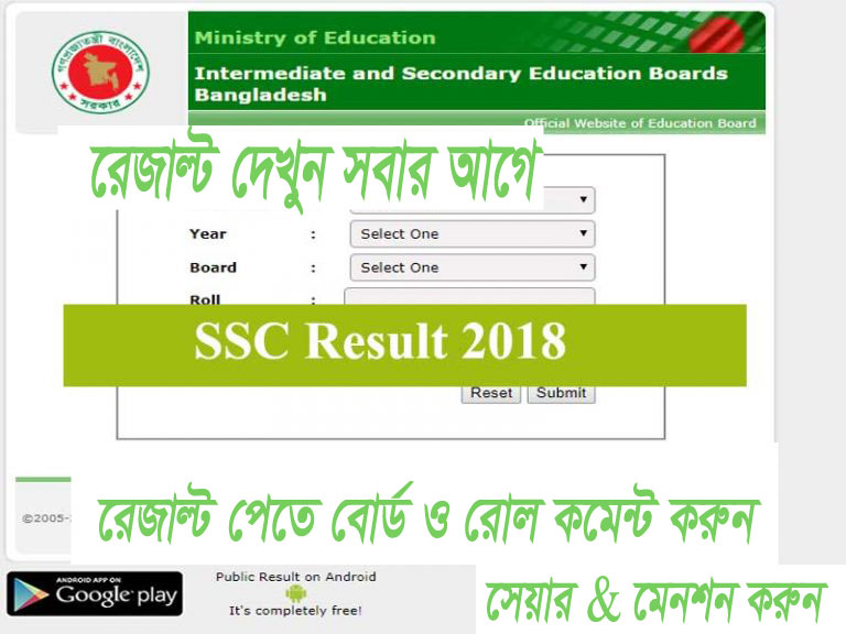 SSC Exam Result 2018