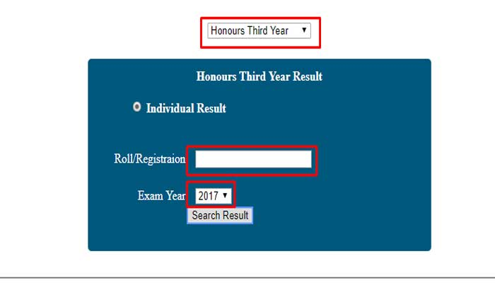 National University Honours 3rd Year Result 2020