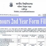 Honours 2nd Year Form Fill up 2019