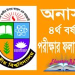 Honours 4th Year Result 2019