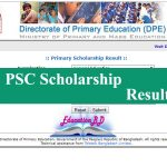 PSC scholarship result 2020