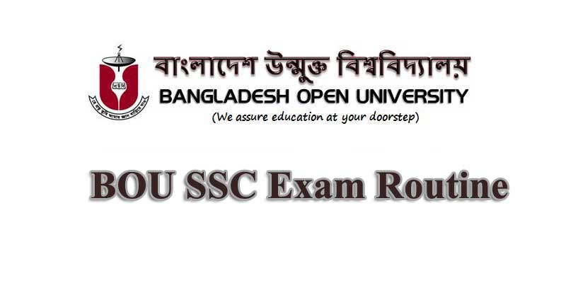 BOU SSC Exam Routine 2020