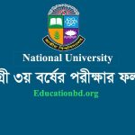Degree 3rd Year Result 2020