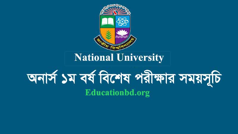 Honours 1st Year Special Exam Routine 2019