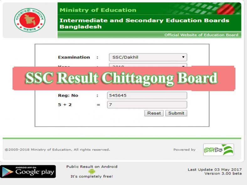 SSC Result 2019 Chittagong Board | Educationbd