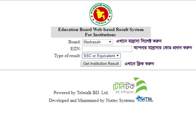 Dakhil Result 2019 Madrasah Board institution