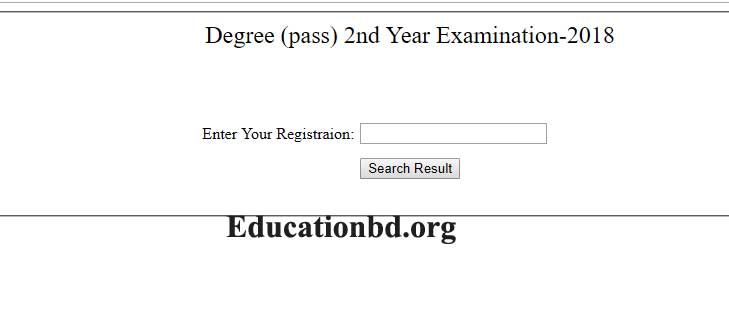 National University Degree 2nd Year Result 2019