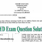 DYD Exam Question Solution 2019