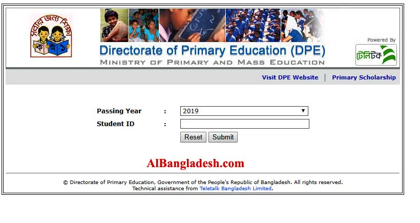 Dhaka Board PSC Result 2019