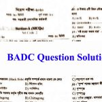 BADC Question Solution 2020