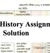 HSC History Assignment Solution 2021